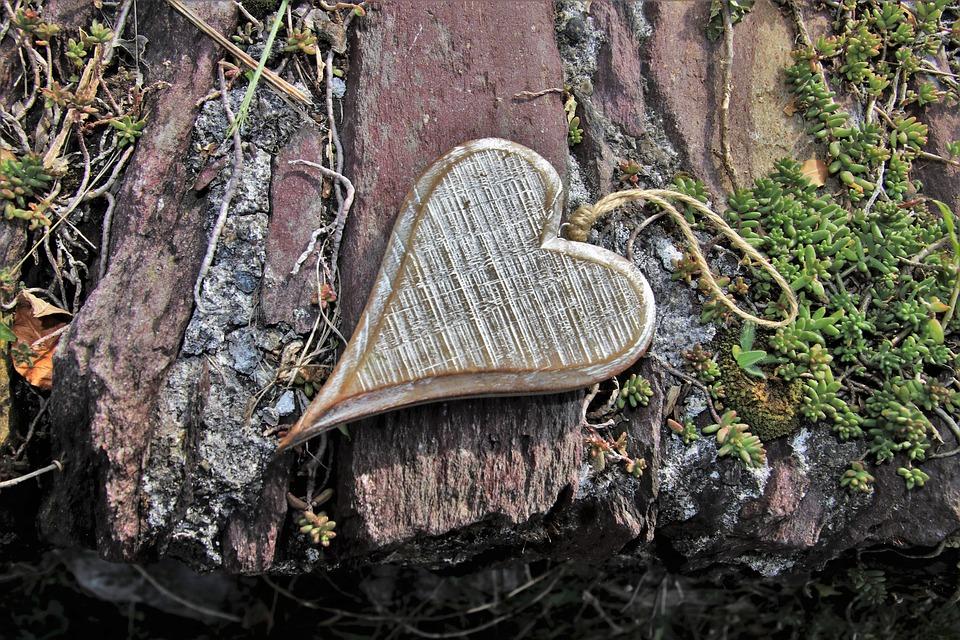 Gray, Heart, Wooden, Feeling, Autumn