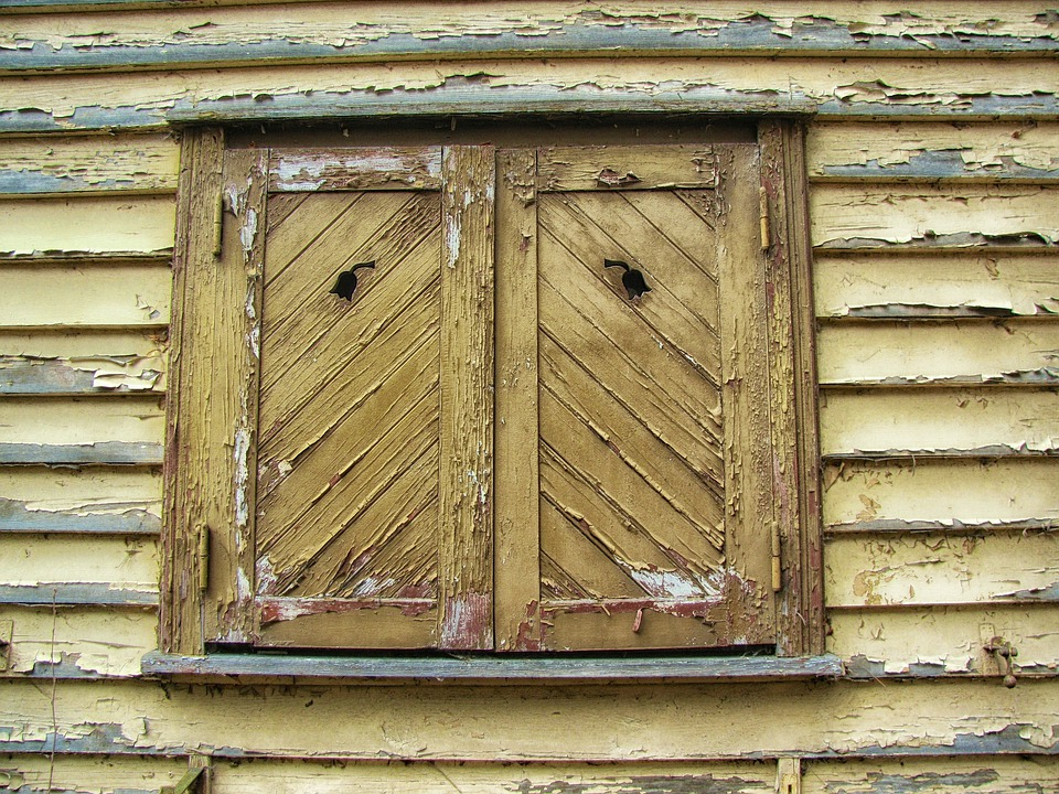 Facade, House, Home, Window, Shutters, Wood, Wooden