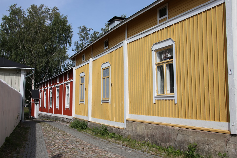 City, Old, Street, Architecture, Tourism, Wooden House