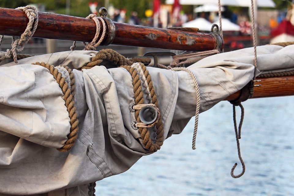 Thaw, Mooring, Sail, Mainsail, Wooden Mast