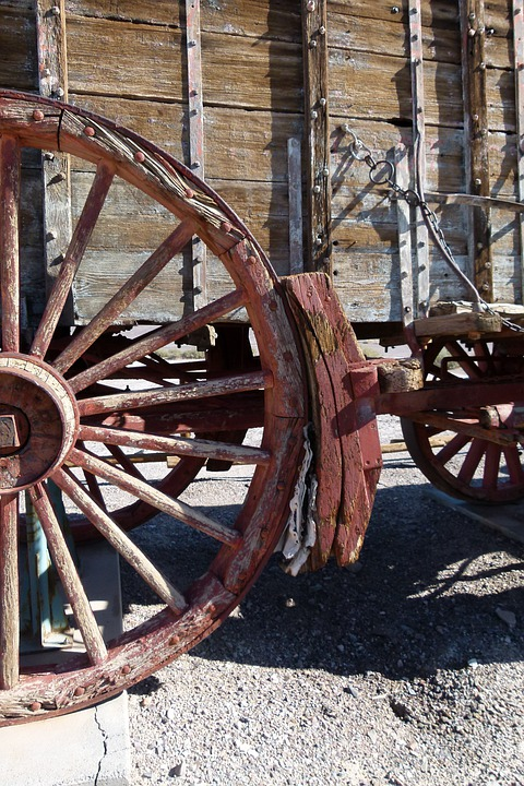Old, Wooden, Wagon, Transportation, Western Style