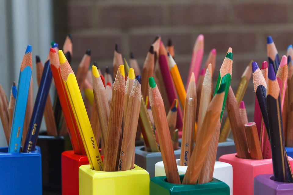 Colored Pencils, Color, Wooden Pegs, Pens, Draw, School