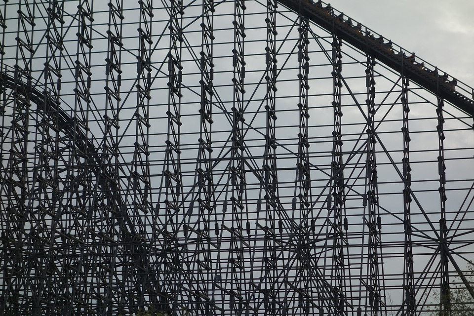 Roller Coaster, Wooden Rollercoaster, Soltau