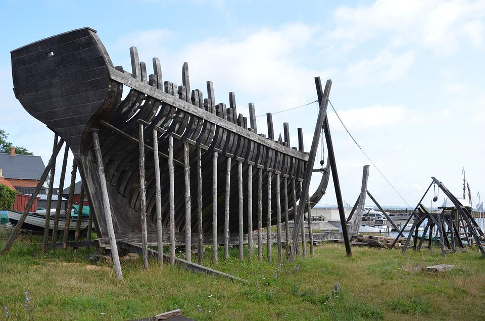 Ship, Shipyard, Wooden Ship, Boat, Defect, Broken