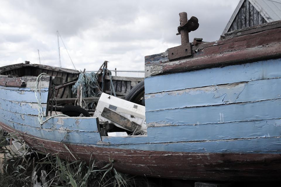 Shipwreck, Rotting, Boat, Abandoned, Wooden, Hull