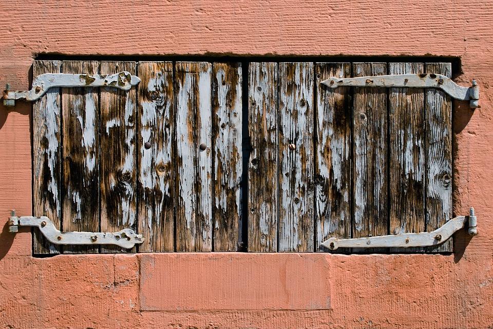Shutters, Window, Wooden Shutters, Closed, Structure