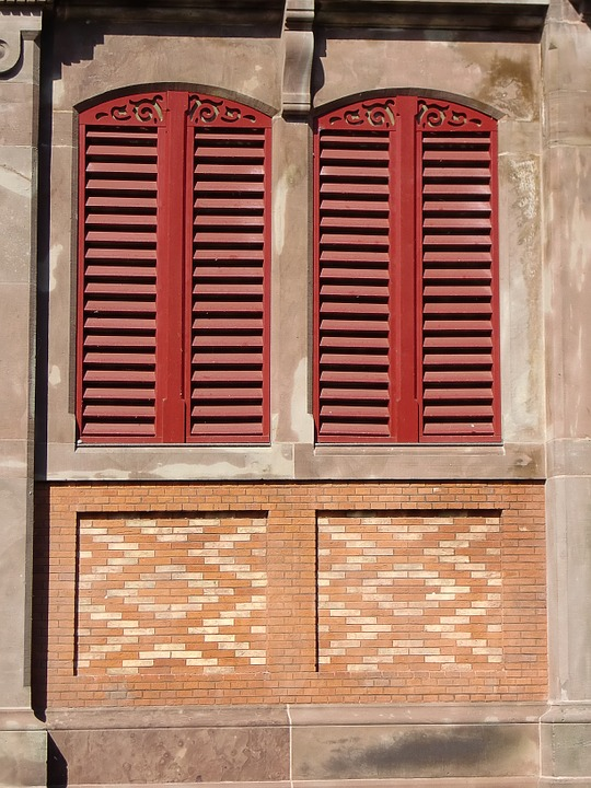 Window, Shutters, Facade, Closed, Wooden Shutters, Red
