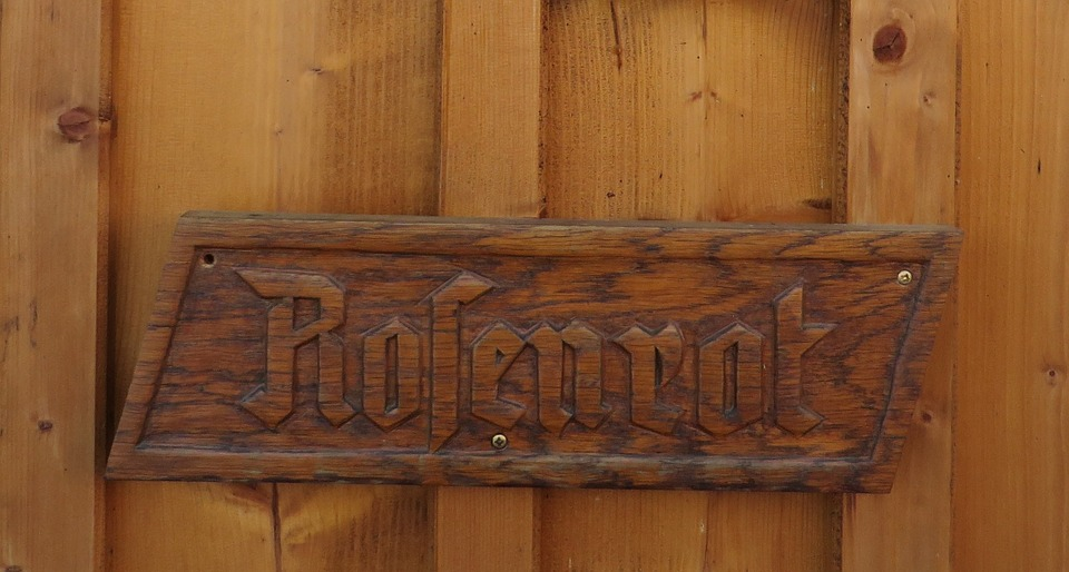 Wooden Sign, Fairy Tales, Rose Red
