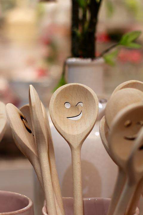 Spoon, Face, Wooden Spoon, Laugh, Close, Cheerful