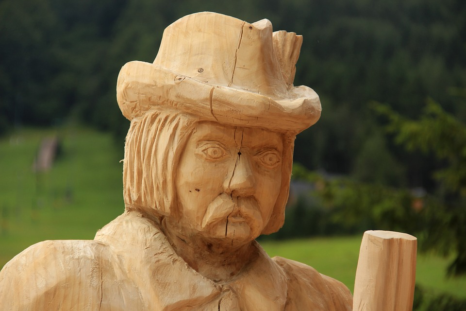 Statue, Wood, Face, Detail, Wooden