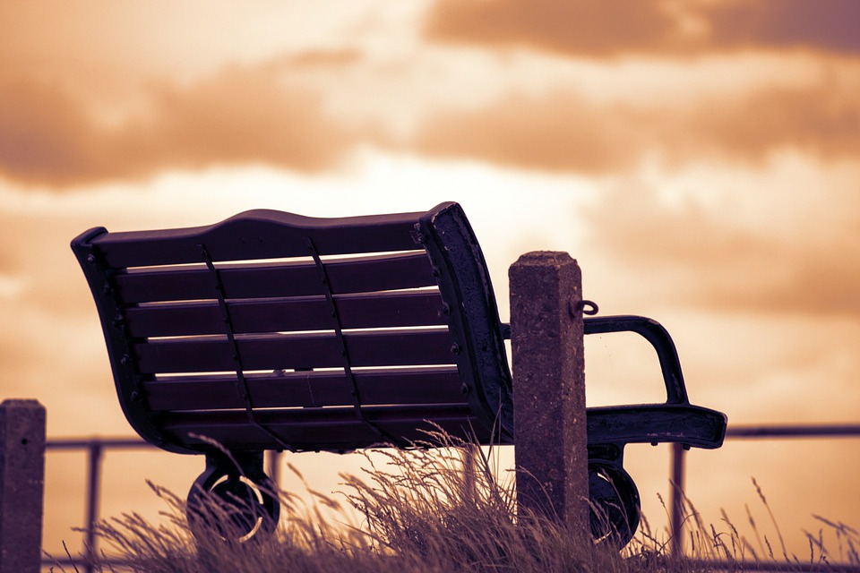 Bench, Wooden, Wood, Seat, Seating, Sunset, Evening