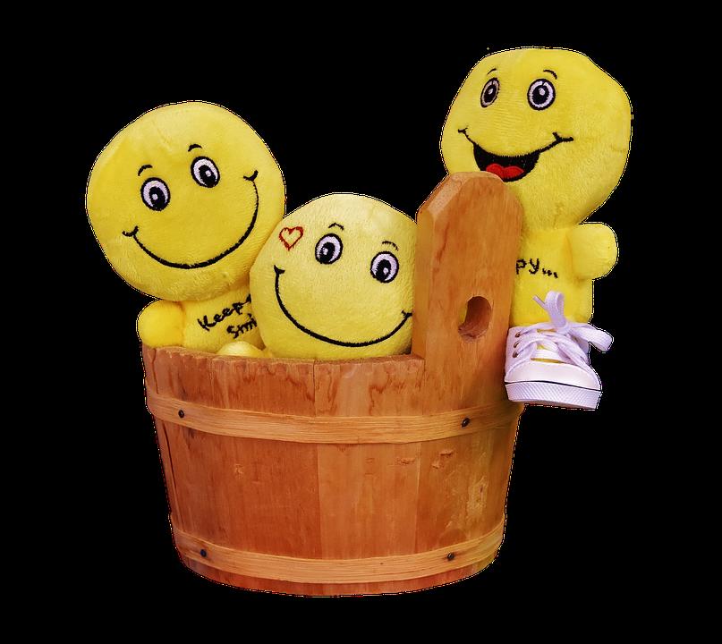 Smilies, Funny, Wooden Tub, Color, Emoticon, Smiley
