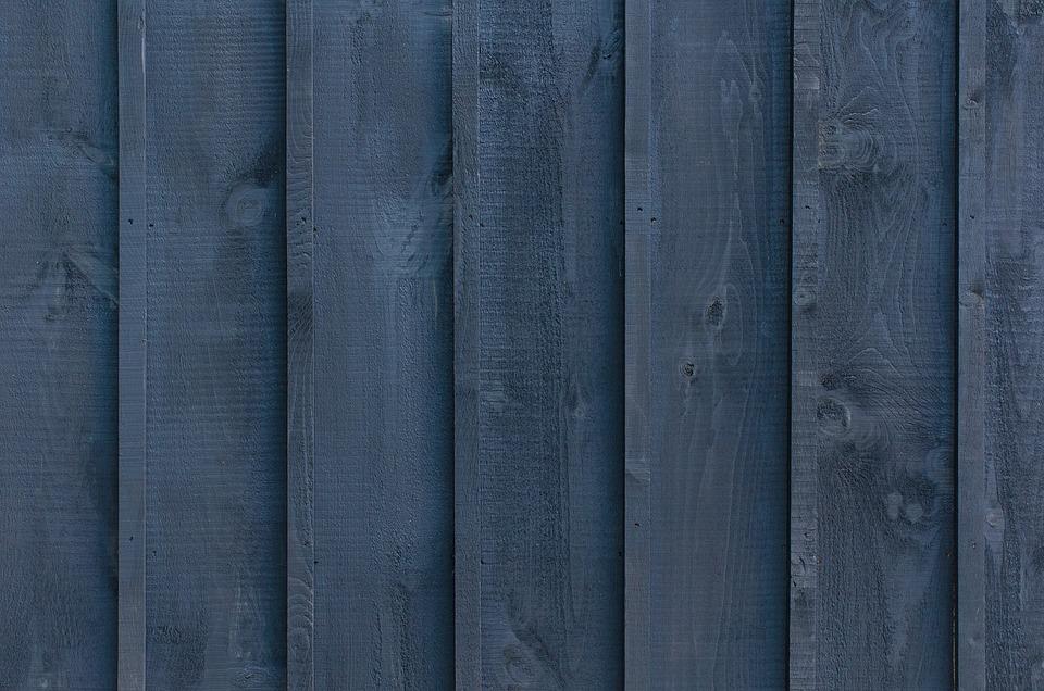 Blue, Wooden, Wall, Pattern