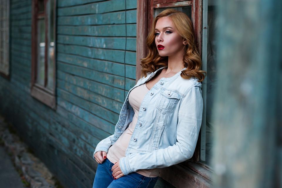 Girl, Red Hair, Makeup, Wooden Wall, Loft, Russian