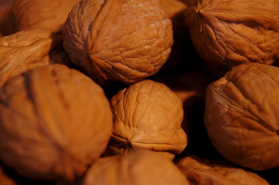 Fruit, Walnuts, Nut, Food, Wooden