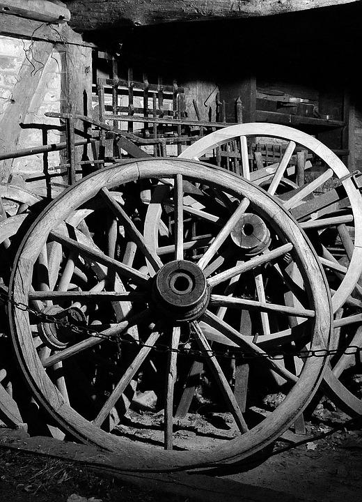 Wheels, Wagon Wheel, Wooden Wheels, Old Wagon Wheel