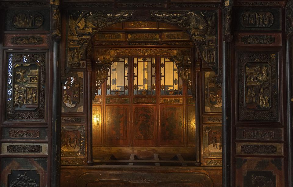 Wood, Indoor, Wooden, House, Old, China, Window