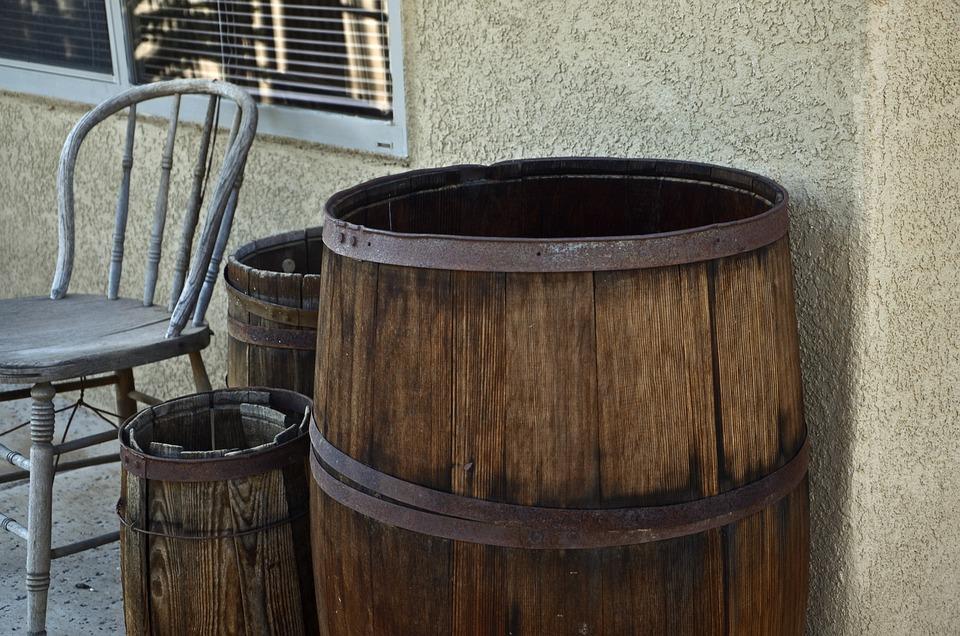 Wooden Barrel, New Mexico Barrel, Still Life, Wooden