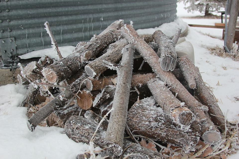 Firewood, Frost, Woodpile