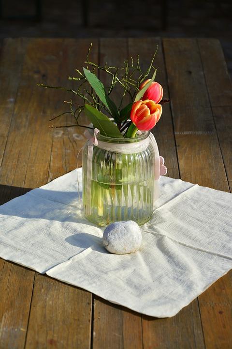 Flower Vase, Flower, Table, Woods, Vase, Ornament