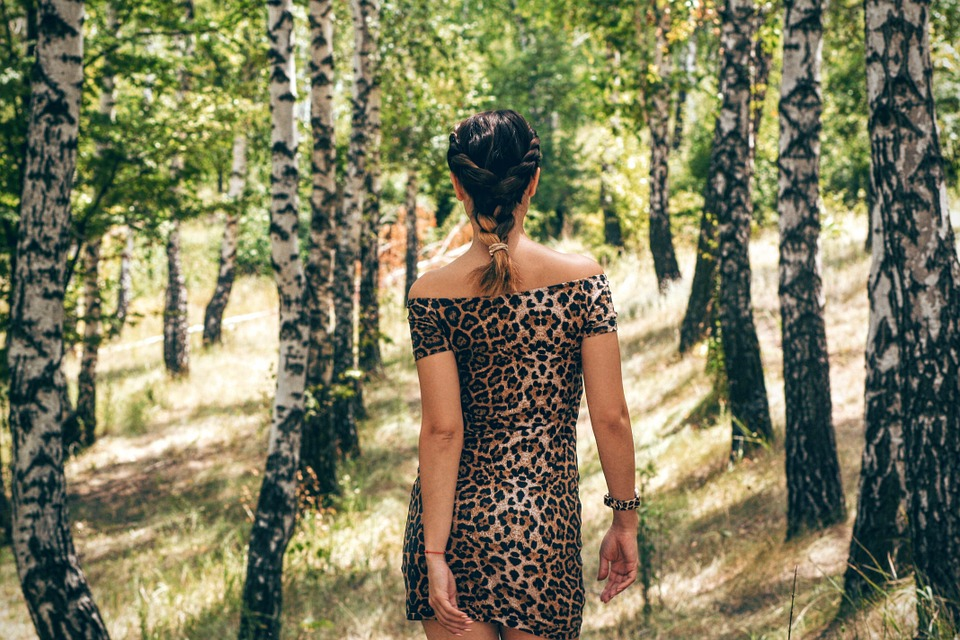 Woman, Back View, Figure, Person, Forest, Woods