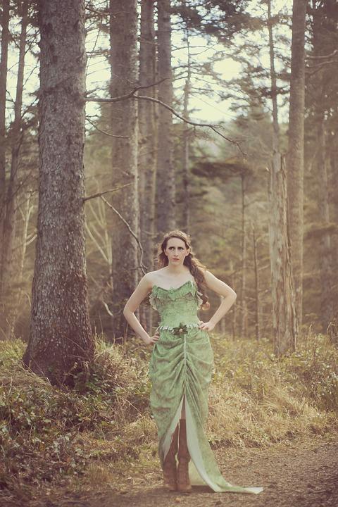 Girl, Woods, Woodland, Elf, Fantasy, Woman, Forest
