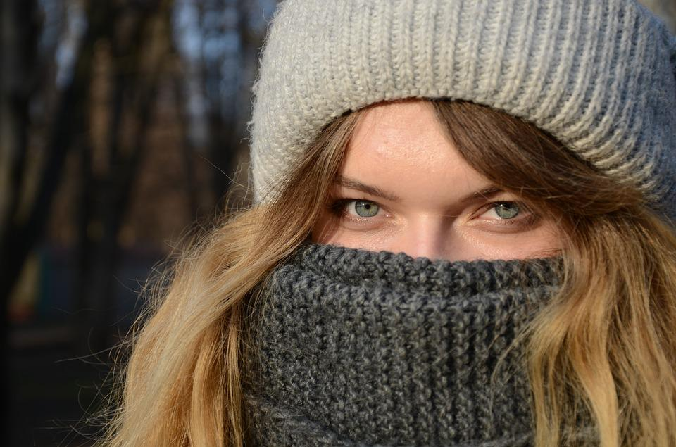 Winter, Coldly, Portrait, Heat, Wool, Girl, Person