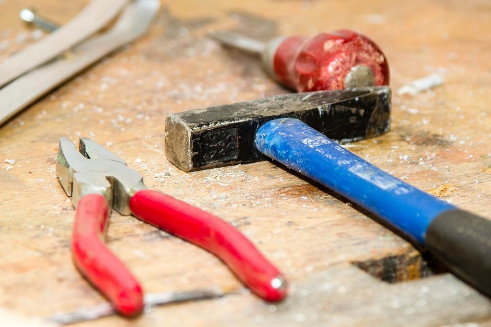 Tool, Work Bench, Hammer, Pliers, Craftsmen, Repair