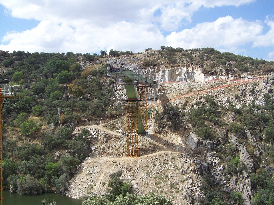 Bridge, Work, Construction, River, Engineering