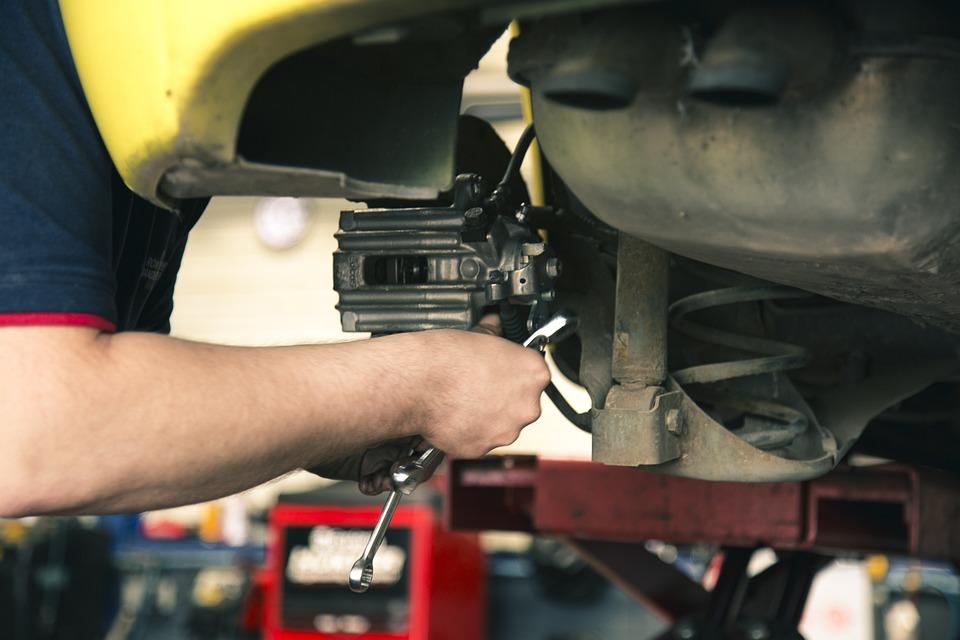 Mechanic, Brakes, Work, Car Maintenance