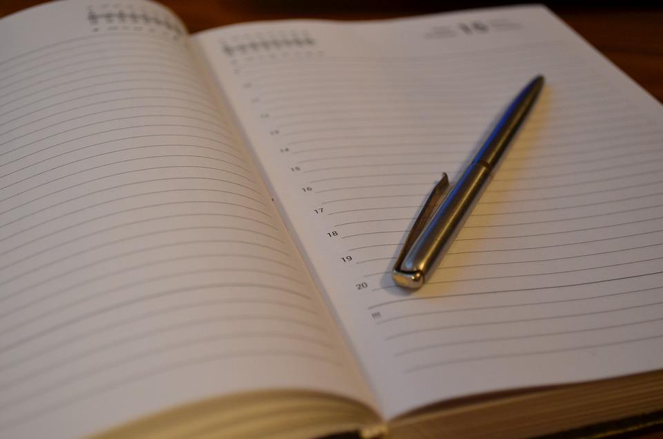 Diary, Pen, Notebook, Work, Secretary, Planning
