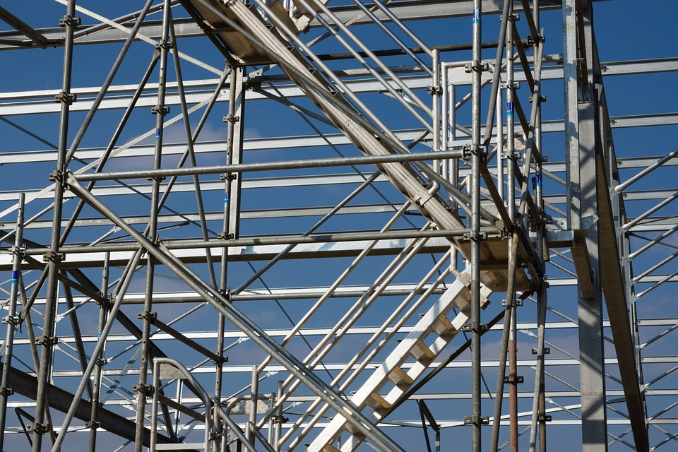 Scaffolding, Site, Staircase, Work