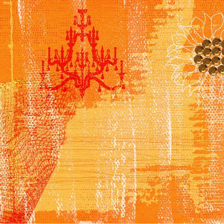 Background, Worked, Orange, Yellow, Texture