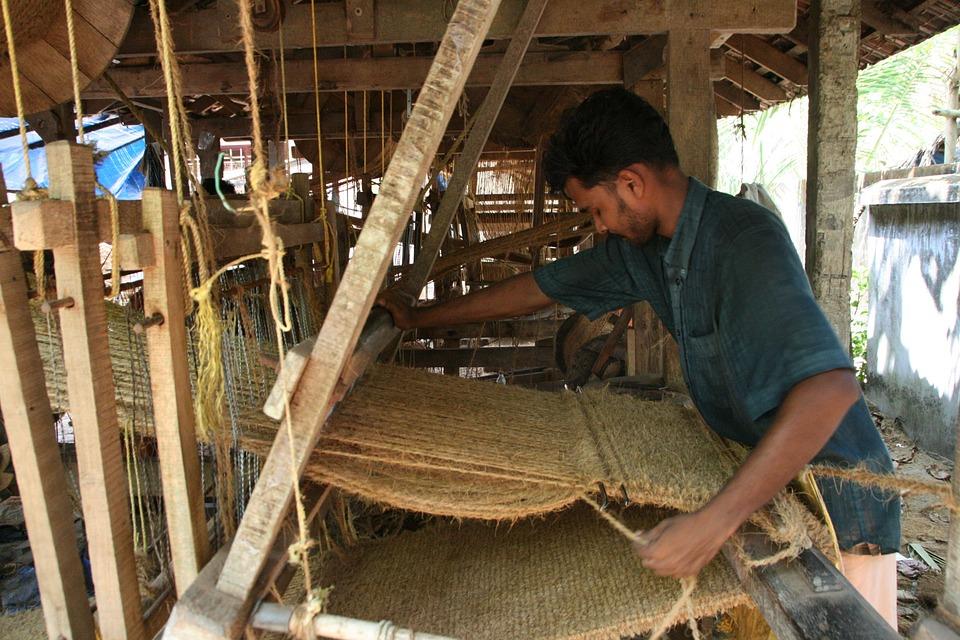 Weaving, Hand Loom, Loom, Worker, Rural Worker, India