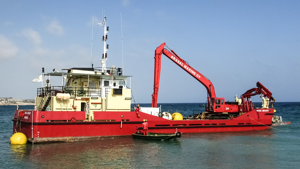 Motor Ship, Crane, Harbour, Ship, Working, Maritime