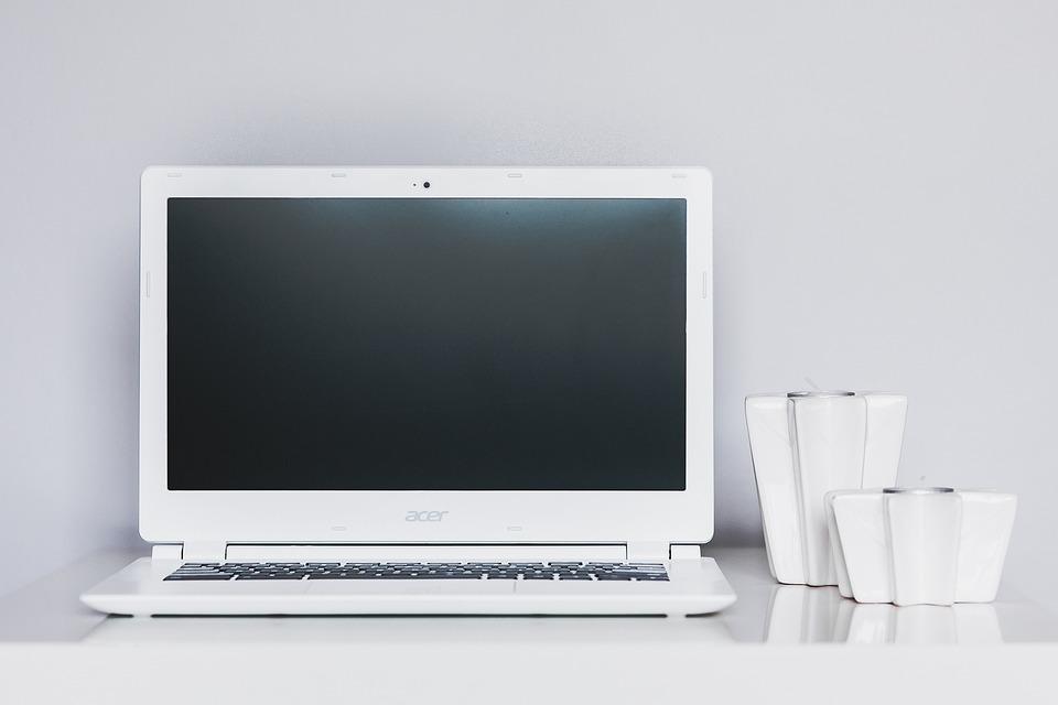 Desk, Work, Working, Work Space, White, Minimal