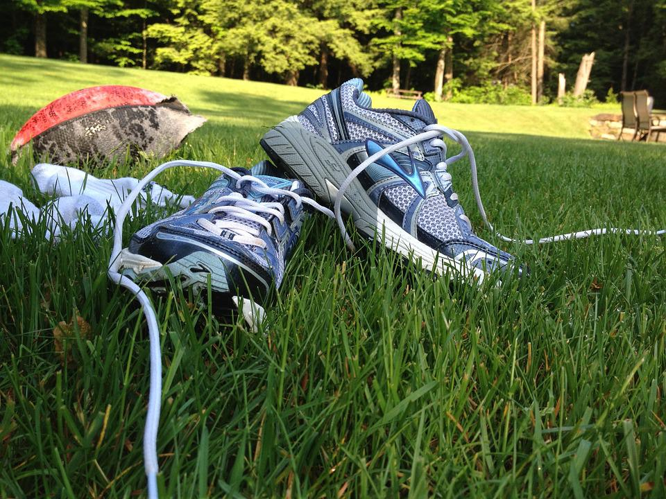 Sneakers, Run, Grass, Sport, Fitness, Workout, Athletic