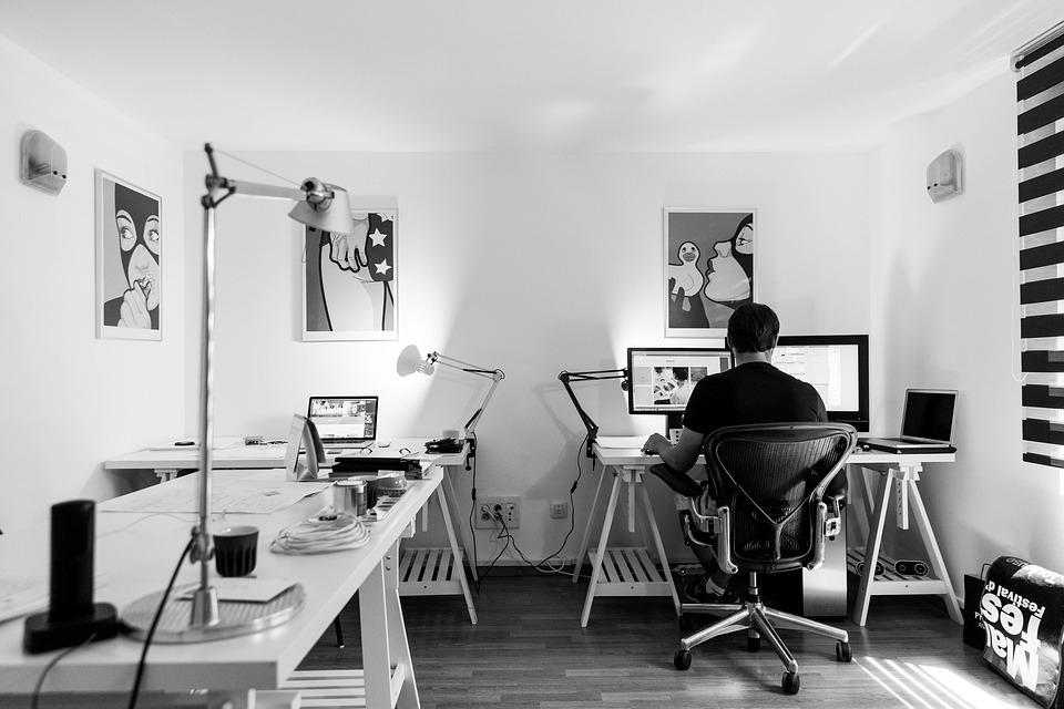 Office Work Desk Computer Workplace Indoor