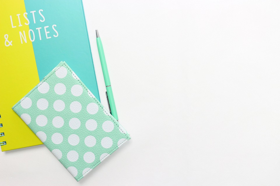 Notebook, Pen, Workplace, Turquoise, Diary, Booklet