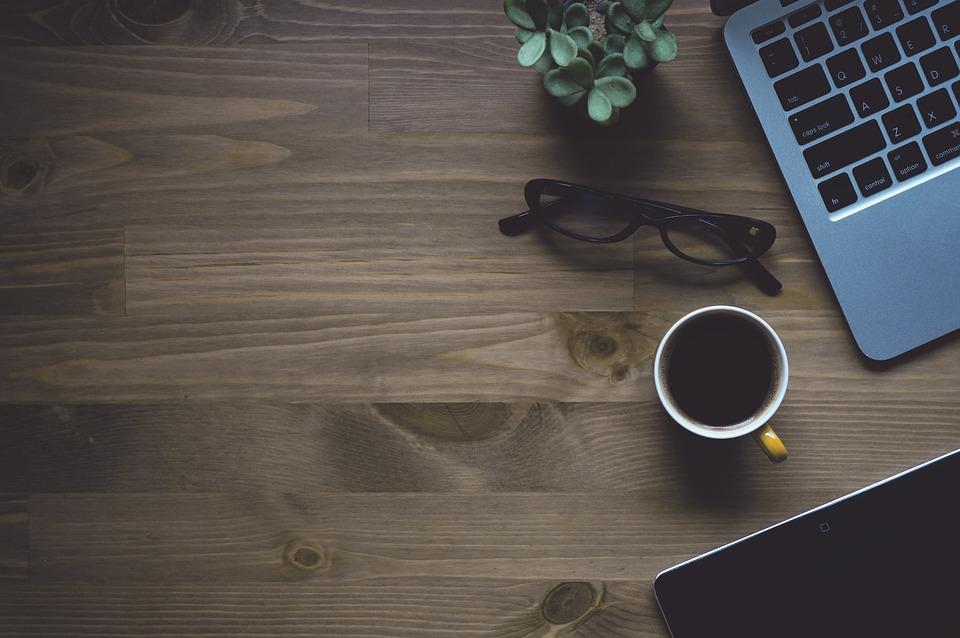 Workspace, Coffee, Laptop, Macbook, Eyeglasses