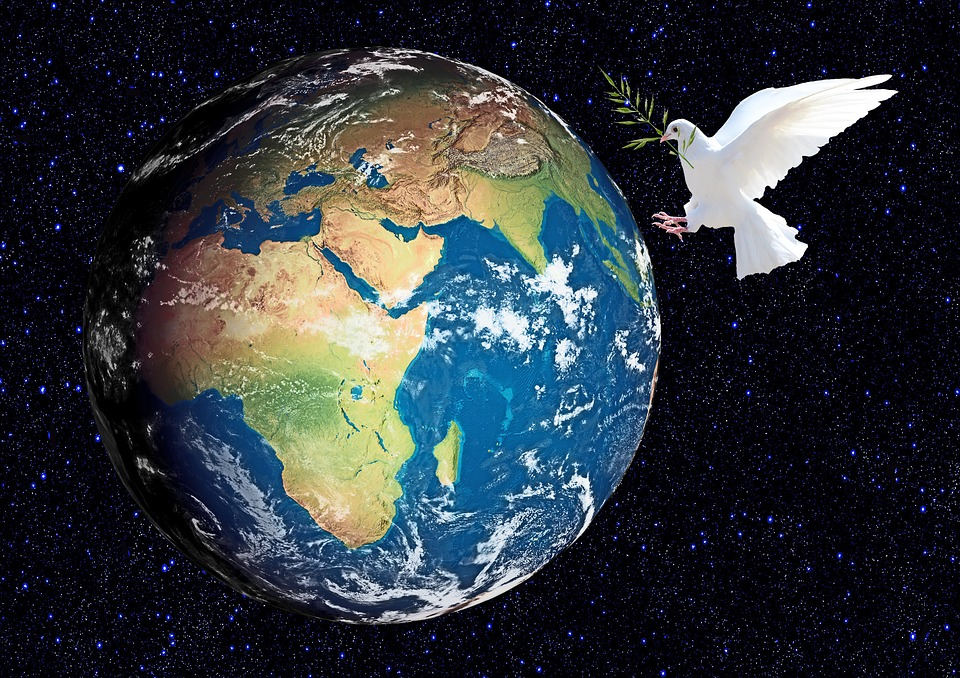 Earth, Globe, World, Planet, Cosmos, Peace Dove