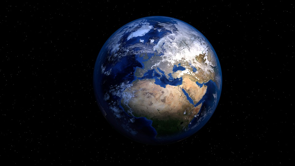 Earth, Planet, World, Globe, Space, Map Of The World