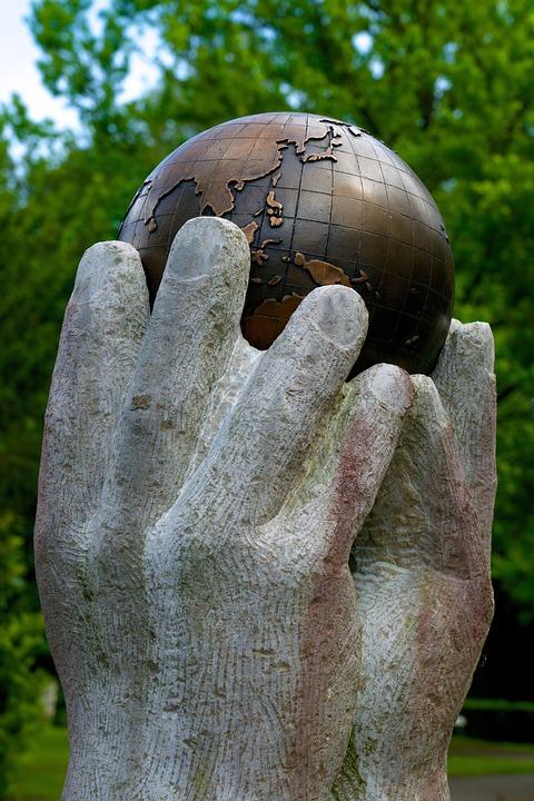 Globe, World, Hands, Access, Lift, Keep