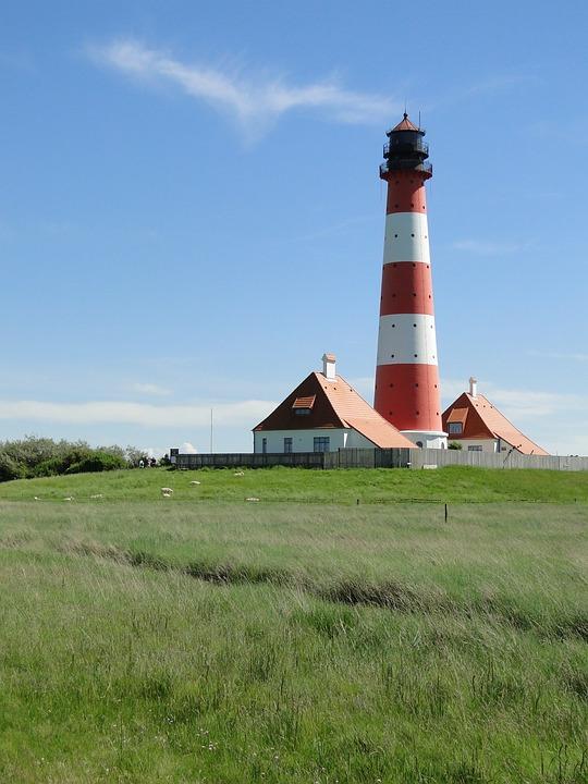 Lighthouse, Westerhever, World Natural Heritage