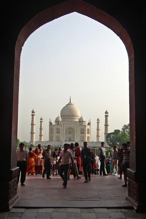 Taj Mahal, Unesco Site, World Wonder, White Marble