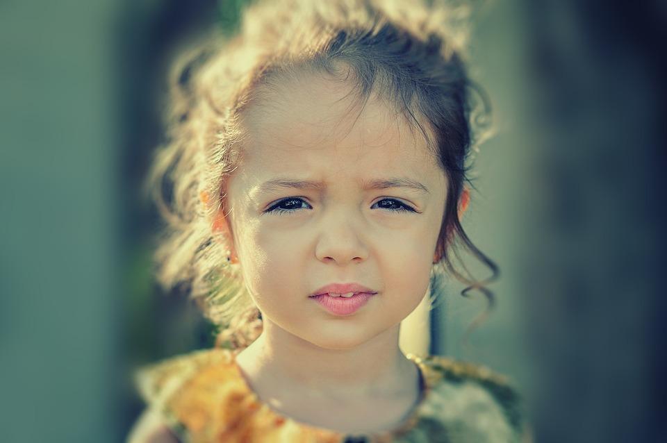 Girl, Worried, Portrait, Face, Sad, Child, Kid