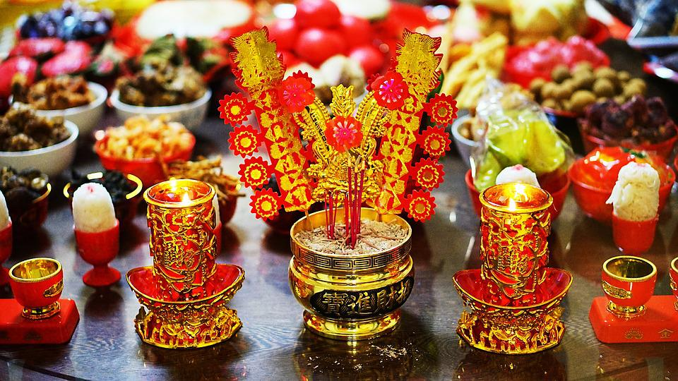Chinese New Year, Worship, Red, Custom