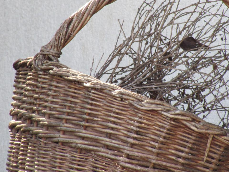 Basket, Woven, Wicker, Decorative, Carry Cot