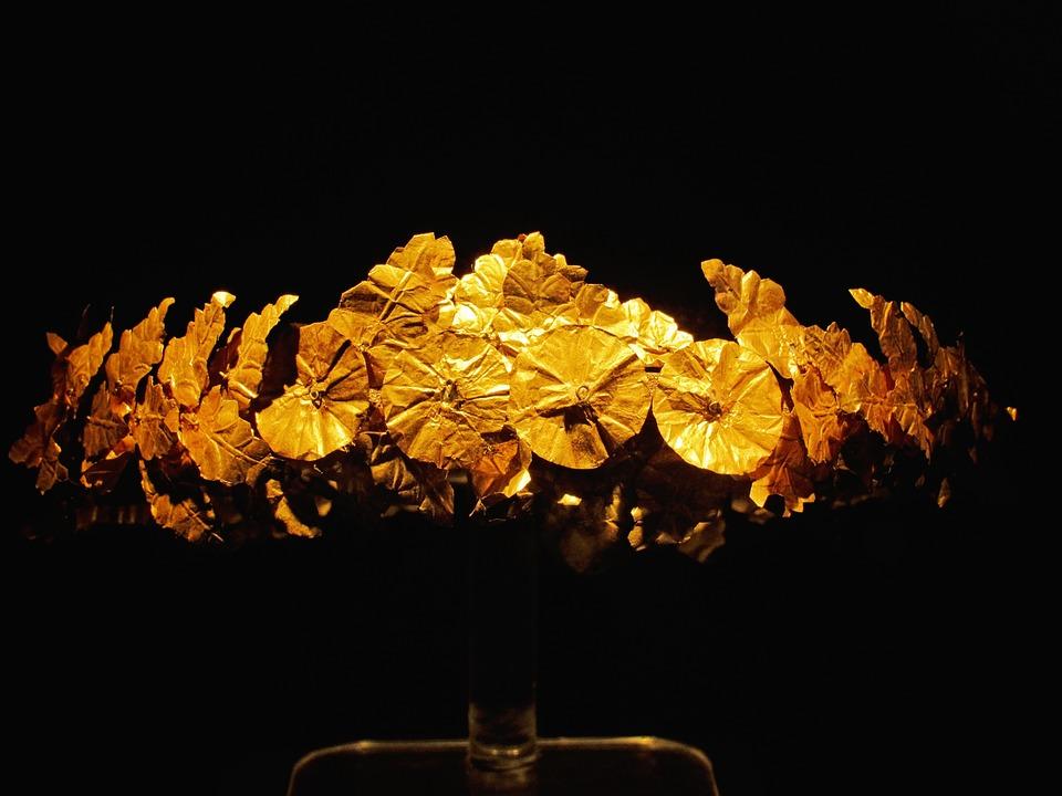 Greek, Crown, Museum, Gold, Olympic, Wreath, Laurels
