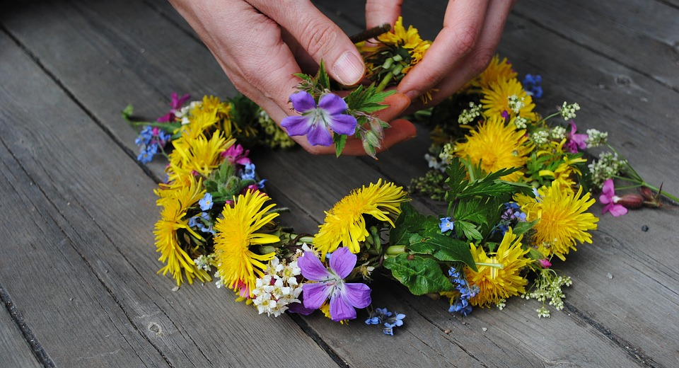 Flower, Blossom, Blooming, Summer, Midsummer, Wreath